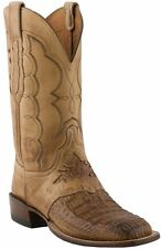 MENS LUCCHESE 1883 COWBOY WESTERN BOOTS! EXOTICS! CAIMAN! CX1063.W8- CREPE SOLE!