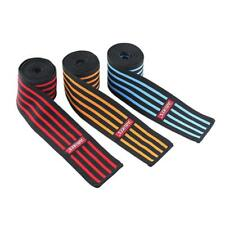 Weight Lifting Knee Wraps Gym Training Supports Brace Bandage Straps Guard Pads