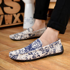 New Mens Driving casual Canvas sneakers loafers slip on boat oxfords shoes CYH89