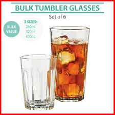 Tumbler Glass Cups Glasses Tumblers Scotch Whiskey Drinking Cup Water BULK 6pk
