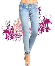 Women's Light Blue Faded Wash Skinny Denim Jeans