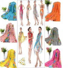 Beautiful Long Cotton Voile Floral Shawl Scarf Wrap Stole For Girls/Lady 12Color