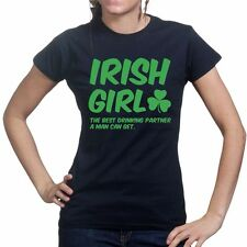 Irish Girl Paddys St Patricks Day Funny Ladies T shirt T-shirt Tee Top