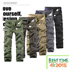 ARMY CARGO CAMO COMBAT MILITARY MENS TROUSERS CAMOUFLAGE PANTS CASUAL