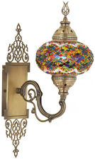 CHOOSE Large Turkish Moroccan Mosaic Glass Wall Sconce Tiffany Style Light Lamp