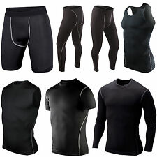 Mens Thermal Compression Base Under Layer Top Tight Vest Shorts Long Pants Skins