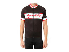 Apres Velo Classic Riding Jersey - Black/White/Red