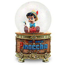 DISNEY ART OF PINOCCHIO Light Up Musical Snowglobe  ~ Jiminy Cricket ~NEW IN BOX