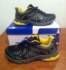Mens Athletic Running Sneakers Tennis Shoes Sz 8 Black/Yellow Starter