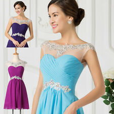 Teen Beaded Short Homecoming Bridesmaid Evening Party Graduation Gown Prom Dress