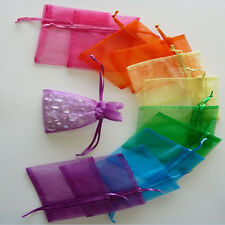 50 Organza Gift Bags Jewellery Christmas Packing Pouches Wedding Party Favour h