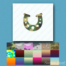 Lucky Horse Shoe Horseshoe - Decal Sticker - Multiple Patterns & Sizes - ebn4027