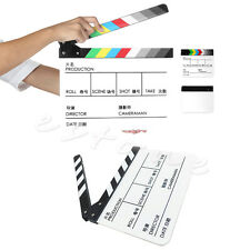 New Acrylic Film Clapperboard TV Movie Cut/Action Clapper Board Slate Clappers