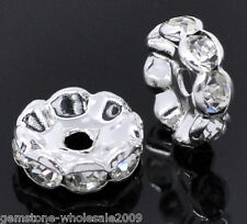 Wholesale Lots Silver Plated Rondelles Spacer Beads 10mm Dia.