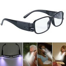 Rimmed Reading Eye Glasses Eyeglasses Bedroom Spectacal With LED Light Black