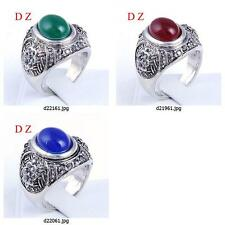 d219m68 Size Pick Vintage 's Tibet Silver Carved Gemstone CZ Gothic Pank Ring