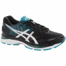 ASICS GEL NIMBUS 18  BLACK WHITE BLUE MENS RUNNING SHOES **FREE POST WORLDWIDE