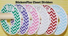 Custom Closet Size Dividers Clothes Organizer Baby Girl Colorful Chevron Nursery