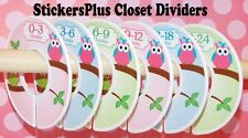 Custom Closet Size Dividers Nursery Clothes Organizer Baby Girl Owl on Branch