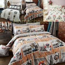 GEOGRAPHIC WORLD DUVET COVER SET IN SINGEL DOUBLE KING & SUPER KING SIZES