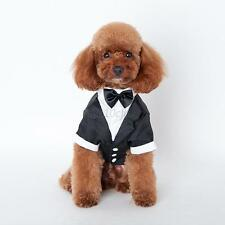 Pet Dog Cat Clothing Prince Tuxedo Bow Tie Puppy Clothes Coat Wedding Party Suit