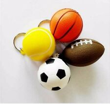 Sports Ball Stress Relief Keychain Choose from Basketball Football Soccer Tennis