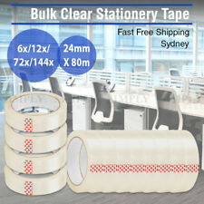 Sticky Tape Packing Clear Stationery 24mm x 80m Adhesive Bulk Business Office