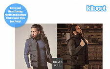 Brave Soul Mens Sterling Gilet Bodywarmer Jacket Zip Extra Warmth Sizes S-XL New