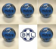 *35% discount* 5 x MITRE MISSION TRAINING FOOTBALLS - CYAN BLUE - SIZES 3, 4 & 5