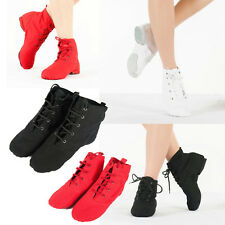 Men Women UNISEX Modern CANVAS Jazz Ballet Dance Shoes Split Heels Sole Shoes
