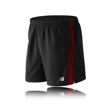 "New Balance Accelerate 5"" Mens Black Red Running Work Out Shorts Pants Bottoms"