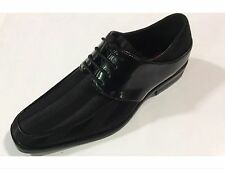 Mens Dress Shoes Expressions Satin Shiny Black Formal Oxford New with Box