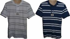 Mens AEROPOSTALE Striped Jersey Henley T-Shirt Tee NWT #2507