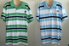 Mens AEROPOSTALE Aero A87 Triple-Color Jersey Polo Shirt NWT #2431