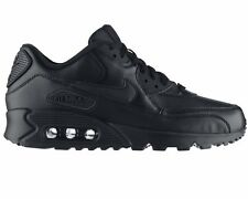 Nike Air Max 90 Leather 302519 001 Black Trainers UK 6 - 11