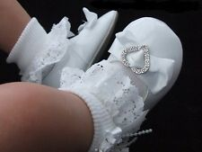 Little Cutie White Baby Girl Patent Pram Christening Occasion Shoes