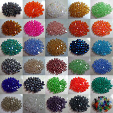 100pcs loose glass crystal bicone spacer beads 4mm Bicone Beads, U Pick color