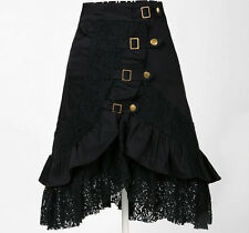 vintage inspired women clothing lace skirts black gothic steampunk hip hop gypsy