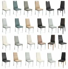 MODERN DINING RESTAURANT CHAIR FAUX ECO LEATHER ROOM FURNITURE COLOUR SEAT h261