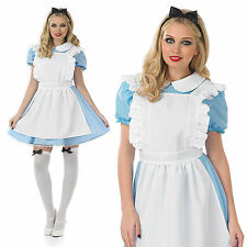 Ladies Sexy Alice In Wonderland Fancy Dress Costume Fairytale Outfit UK 8-30