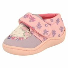 Girls Hello Kitty Pink/Lilac Comfy Childrens Velcro Slippers