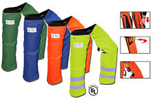 Forester Zipper Protective Chainsaw Chaps Orange, Navy, Forest, Safety Green