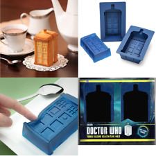 Doctor Dr. Who Tardis Police Box Shaped Gelatin Jello Cupcake Silicone Mold 2 Pk