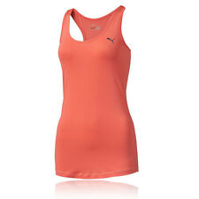 Puma Essential Layered Womens Orange DryCELL Running Sports Vest Tank Top