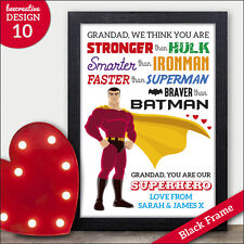 Grandad is My Superhero Personalised Fathers Day Gifts Presents Grandpa Gramps