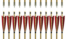33'' Handmade Traditional Red MEDIEVAL Archery Wooden Arrows Longbow Practice