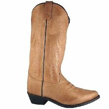 NEW! Ladies Smoky Mountain Boots - Leather Tan Western Cowboy Boot - Bomber