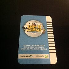 Blue Woolworths Super Animal Cards Individual, Single # 51 - 108 All numbers