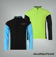 New Mens Branded Muddyfox Reflective Long Sleeved Cycling Jersey Top Size S-XXXL