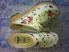 Dutch Leather Wooden Clog shoe( FLOWER)HUGE WINTER SALE & Free Gift